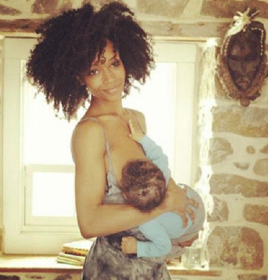 Yaya Dacosta Breastfeeding