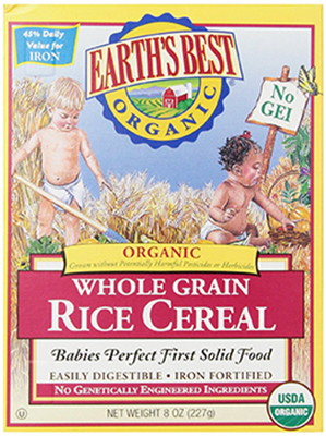 Earth's Best Organic Cereal Rice Cereal - best baby cereal