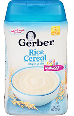 Gerber Baby Cereal, Rice