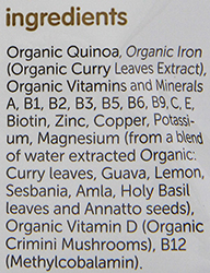 The NurturMe Protein Packed Quinoa Organic Infant Cereal Ingredients