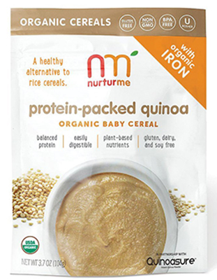 The NurturMe Protein Packed Quinoa Organic Infant Cereal