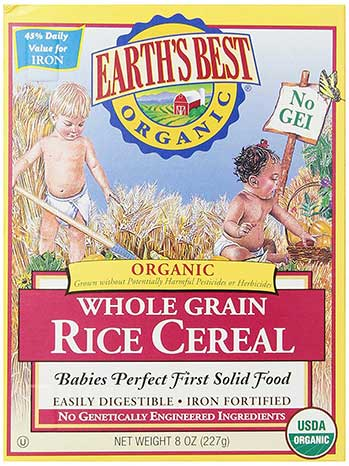 Earth's Best Organic, Whole Grain Rice Cereal