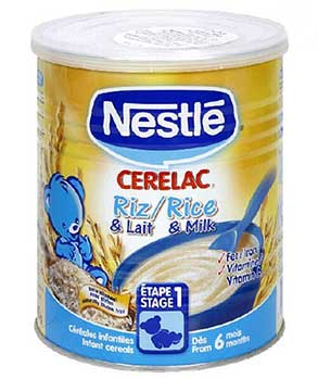Nestle Cerelac, Rice with Milk