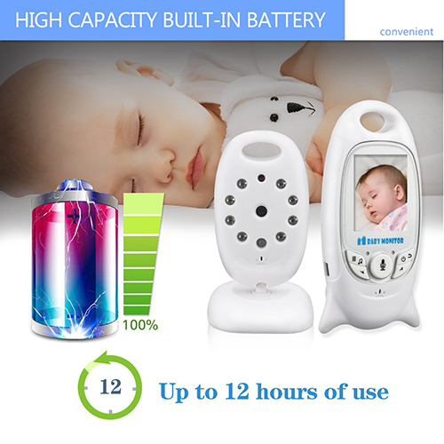 Hollyson Digital Security Baby Monitor Videos Camera with Night Vision Temperature Monitoring and 2 Way Talk Talkback System